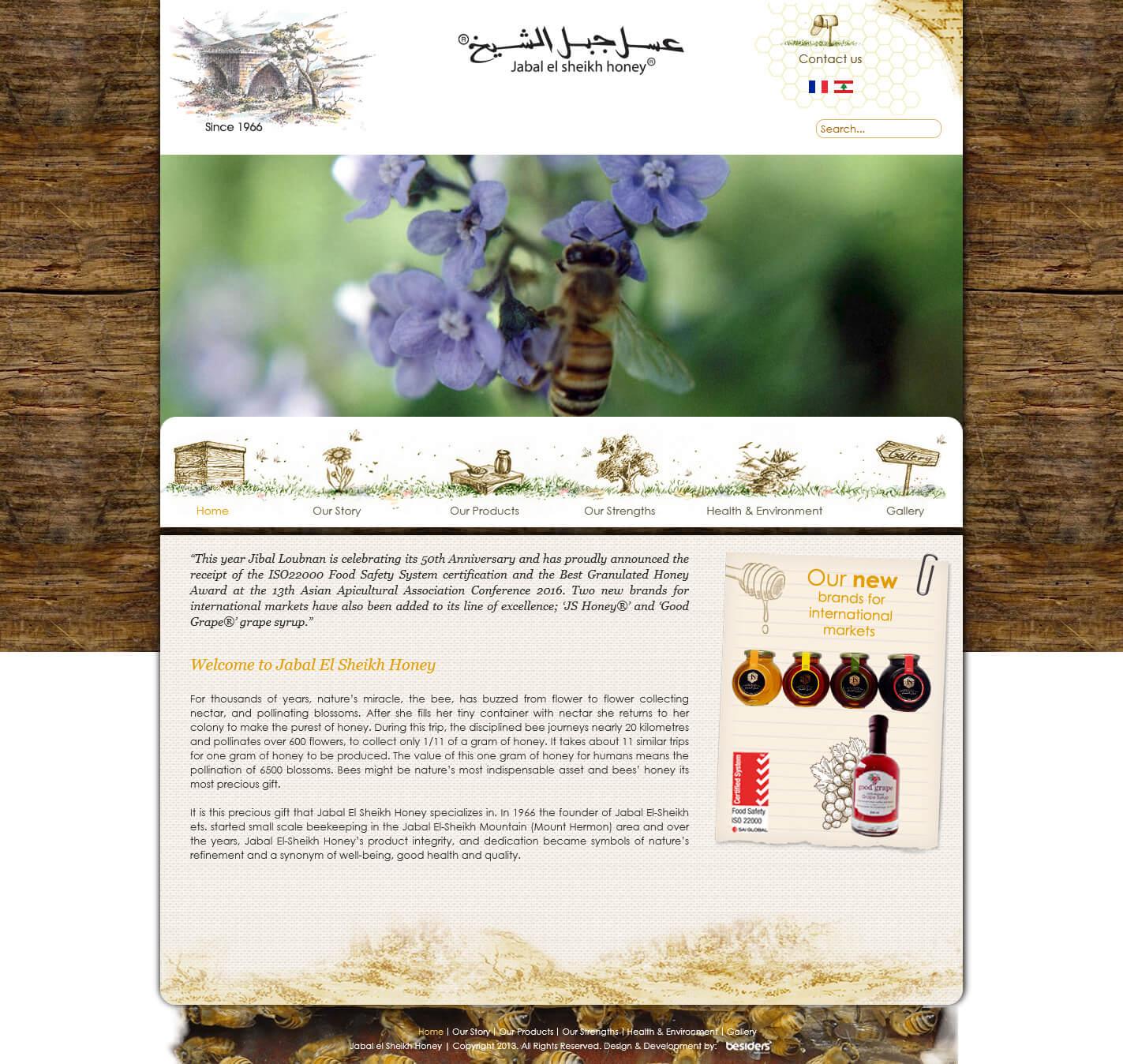 Lebanese Natural Honey Jabal El Sheikh Lebanon jiballoubnan com